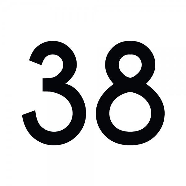 Zahlenaufkleber 38 schwarz