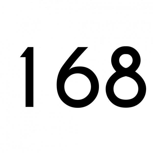 Hausnummer Aufkleber 168 schwarz