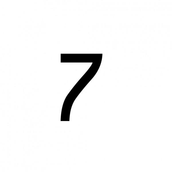 Hausnummer Aufkleber 7 schwarz