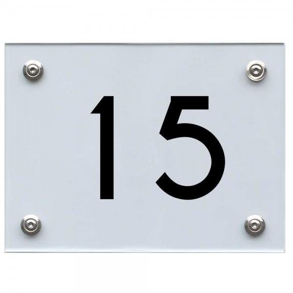 Hausnummernschild 15 schwarz