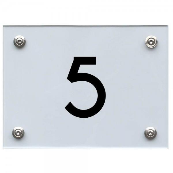Hausnummernschild 5 schwarz