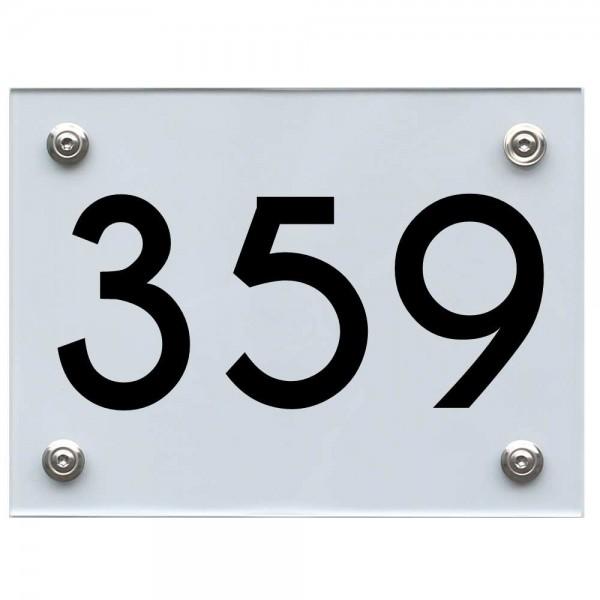 Hausnummernschild 359 schwarz