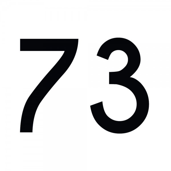 Zahlenaufkleber 73 schwarz