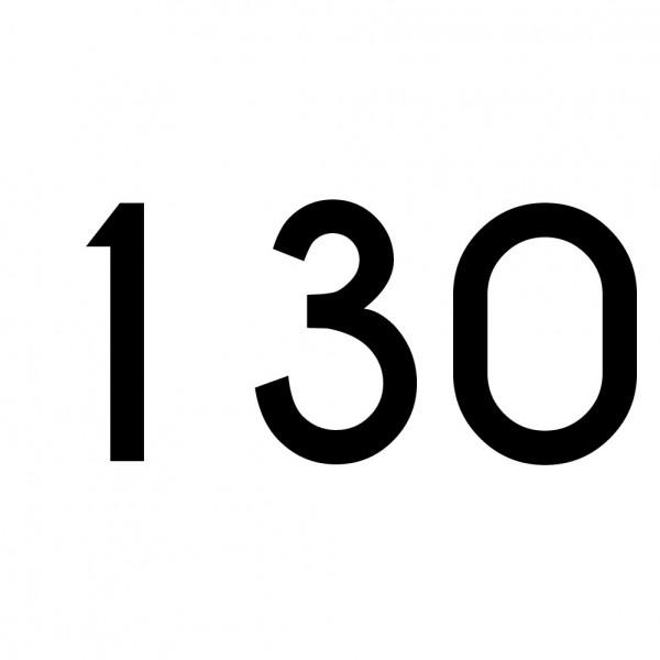 Hausnummer Aufkleber 130 schwarz