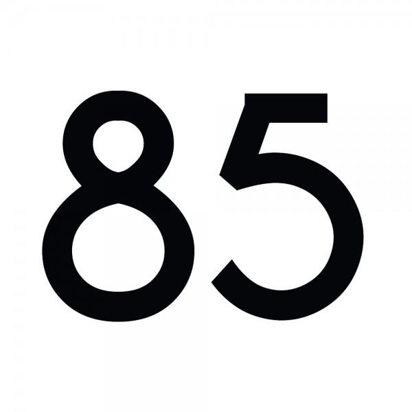 Zahlenaufkleber 85 schwarz