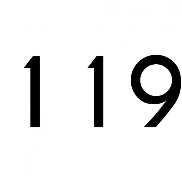 Hausnummer Aufkleber 119 schwarz