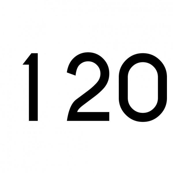 Hausnummer Aufkleber 120 schwarz