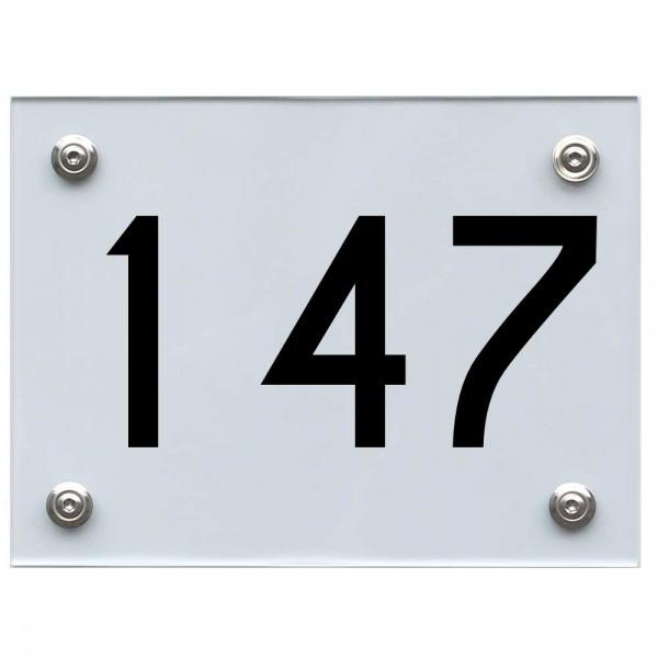 Hausnummernschild 147 schwarz