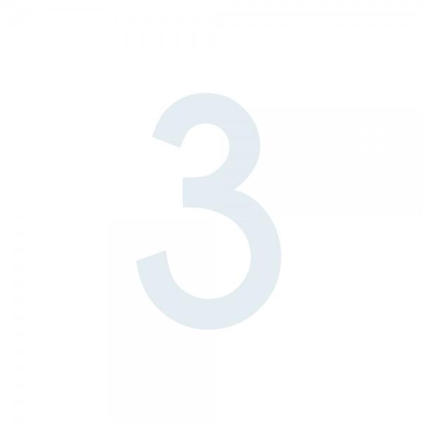 Zahlenaufkleber 3 weiß