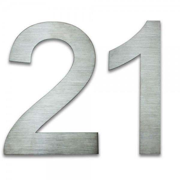 Hausnummer Edelstahl 21