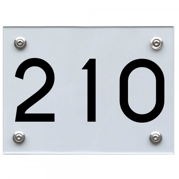 Hausnummernschild 210 schwarz