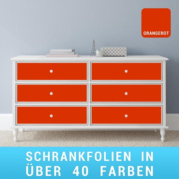Schrankfolie orangerot