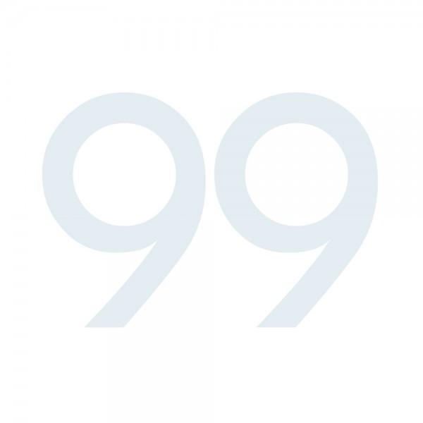 Zahlenaufkleber 99 weiß