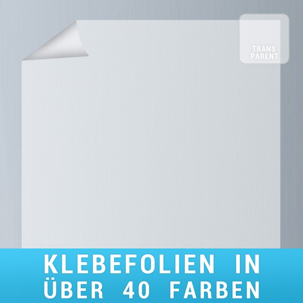 Klebefolie transparent