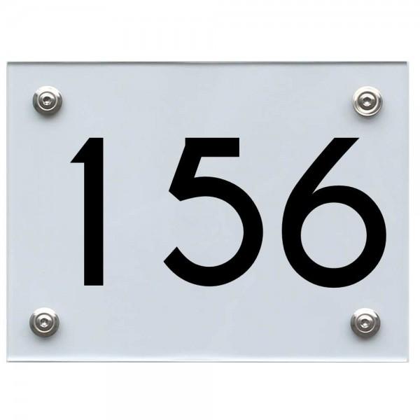 Hausnummernschild 156 schwarz