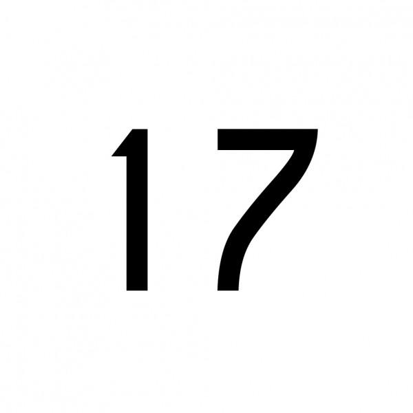 Hausnummer Aufkleber 17 schwarz