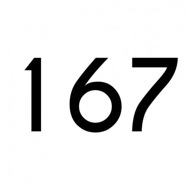 Hausnummer Aufkleber 167 schwarz