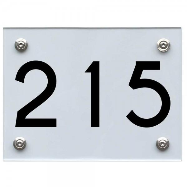 Hausnummernschild 215 schwarz
