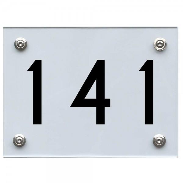 Hausnummernschild 141 schwarz