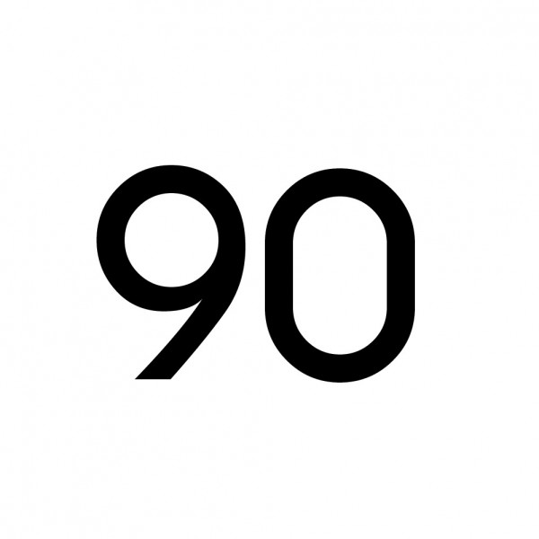 Hausnummer Aufkleber 90 schwarz