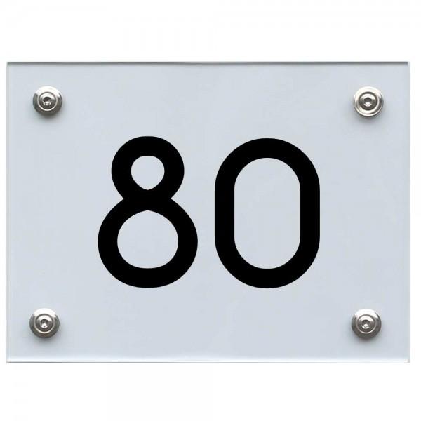 Hausnummernschild 80 schwarz