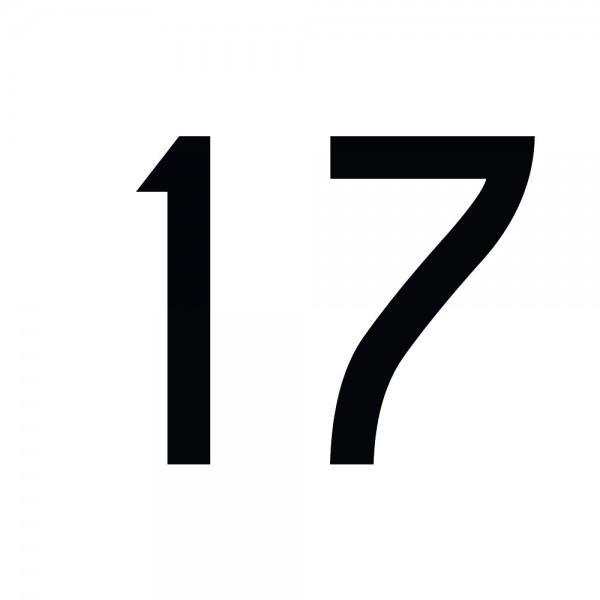 Zahlenaufkleber 17 schwarz