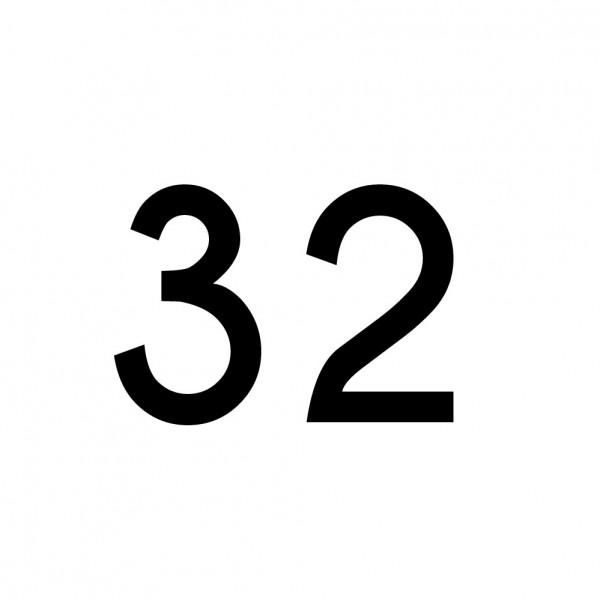 Hausnummer Aufkleber 32 schwarz
