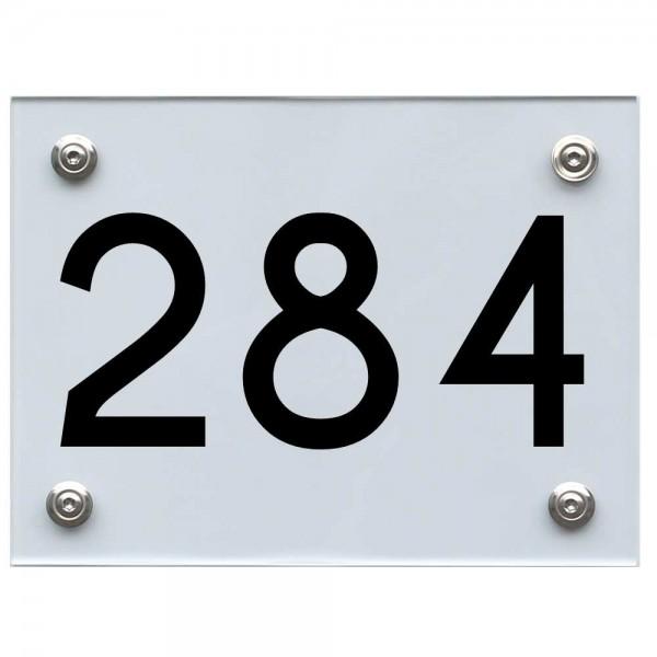 Hausnummernschild 284 schwarz