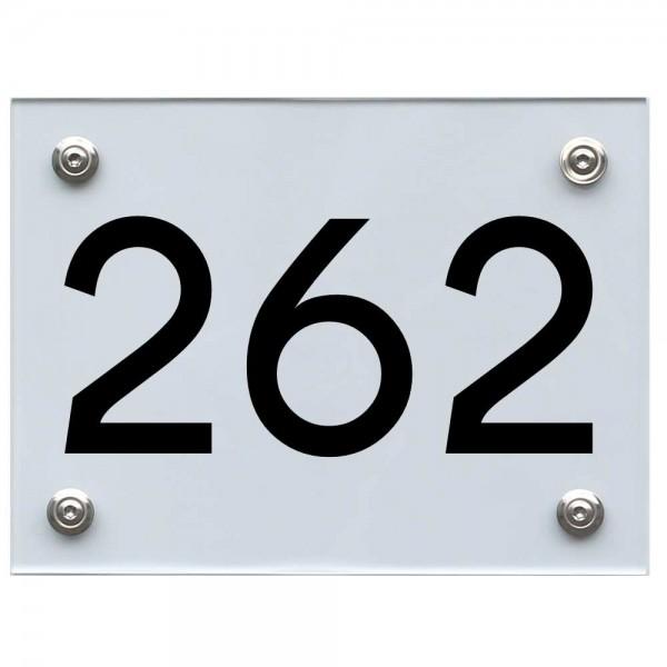 Hausnummernschild 262 schwarz
