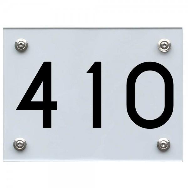 Hausnummernschild 410 schwarz