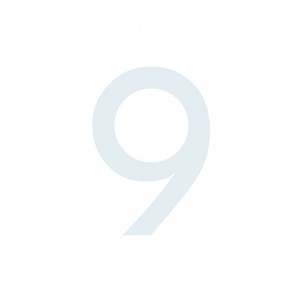 Zahlenaufkleber 9 weiß