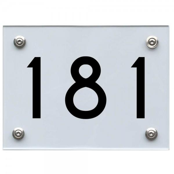 Hausnummernschild 181 schwarz