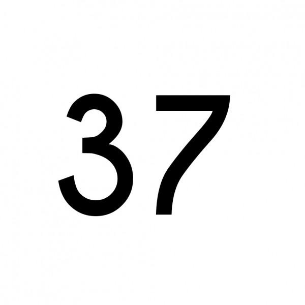 Hausnummer Aufkleber 37 schwarz