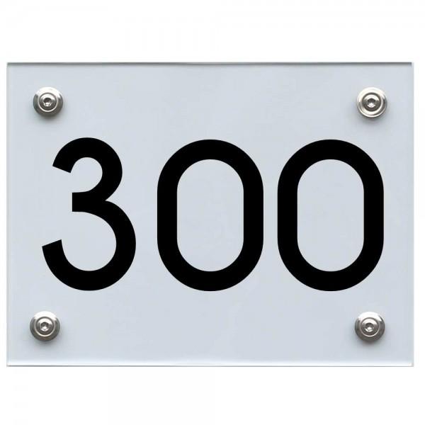 Hausnummernschild 300 schwarz