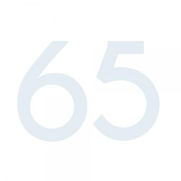 Zahlenaufkleber 65 weiß