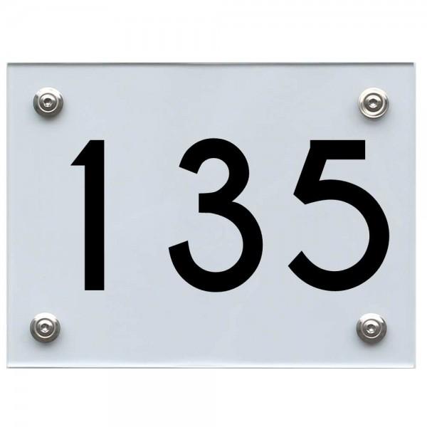 Hausnummernschild 135 schwarz