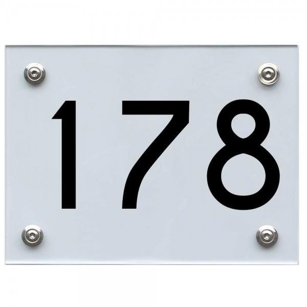 Hausnummernschild 178 schwarz