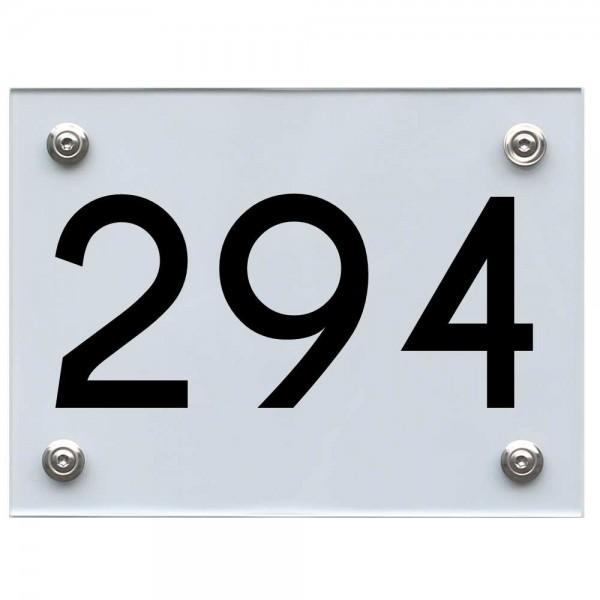 Hausnummernschild 294 schwarz