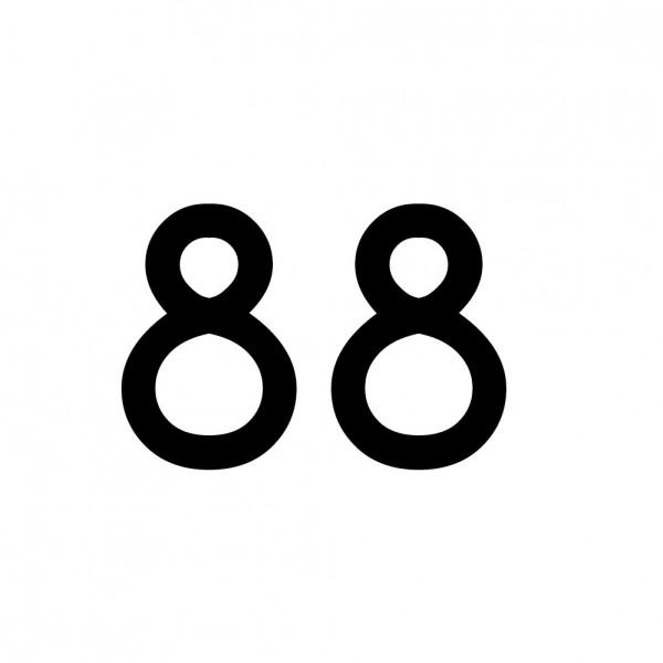 Hausnummer Aufkleber 88 schwarz