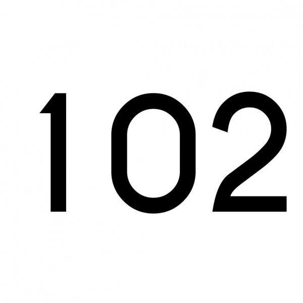Hausnummer Aufkleber 102 schwarz
