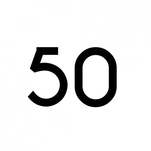 Hausnummer Aufkleber 50 schwarz