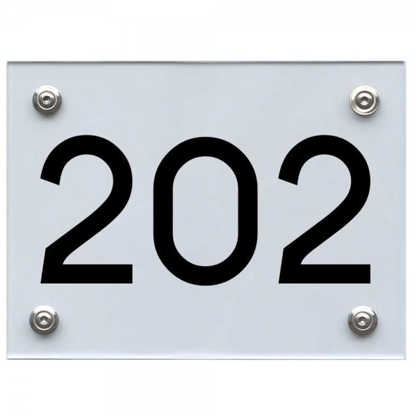 Hausnummernschild 202 schwarz