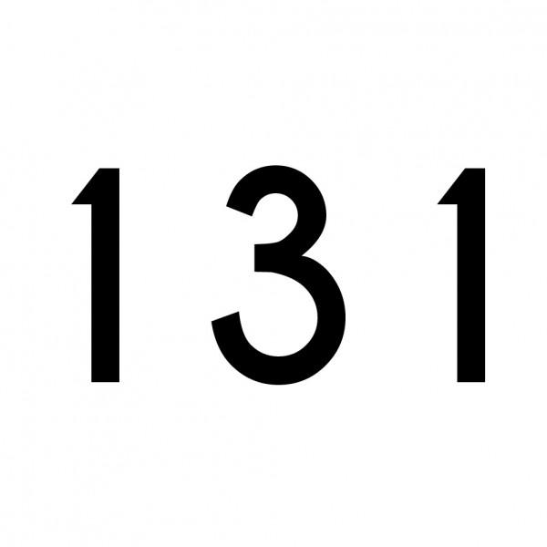 Hausnummer Aufkleber 131 schwarz