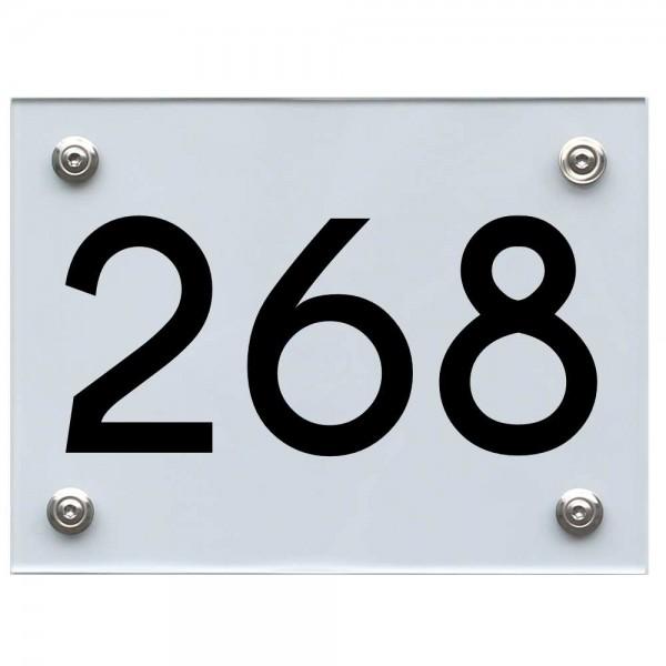 Hausnummernschild 268 schwarz