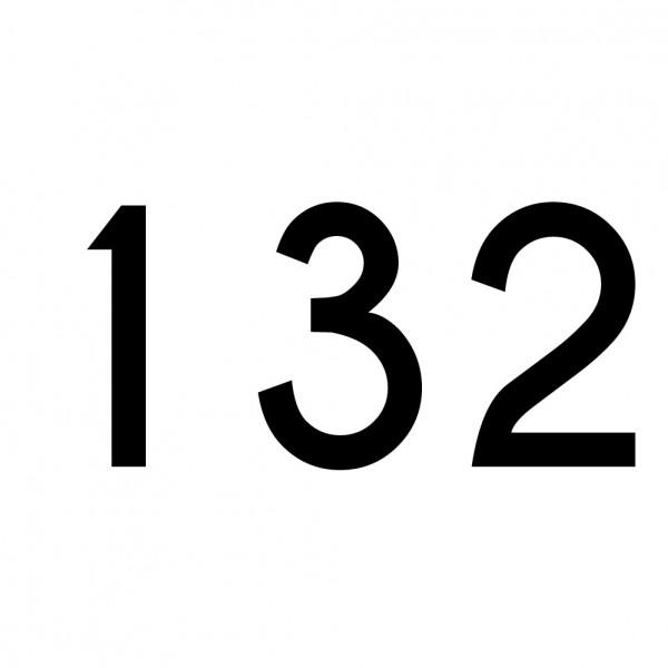 Hausnummer Aufkleber 132 schwarz