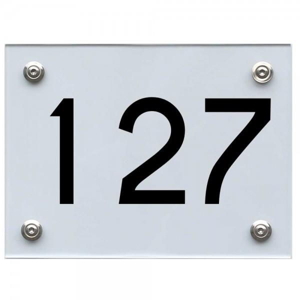 Hausnummernschild 127 schwarz