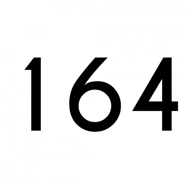 Hausnummer Aufkleber 164 schwarz