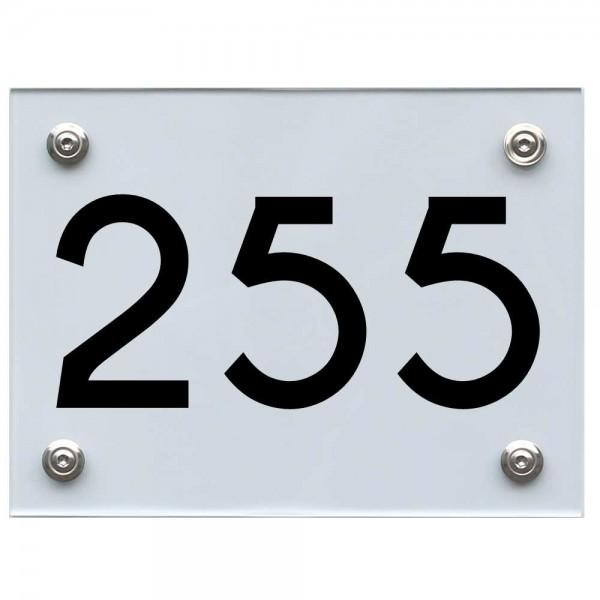 Hausnummernschild 255 schwarz