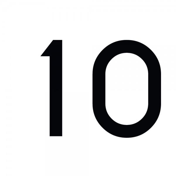 Zahlenaufkleber 10 schwarz