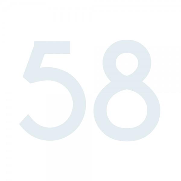 Zahlenaufkleber 58 weiß